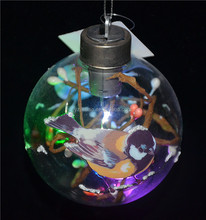 Best selling hot chinese products outdoor hanging light balls with adorable birds as special christmas ball ornaments bulk