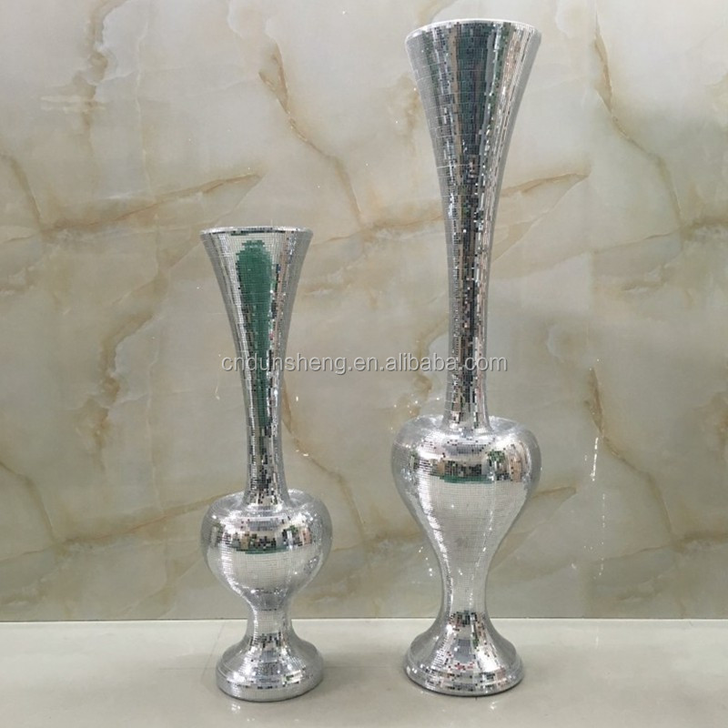 44*44*121 Magnesia Contemporary glass mosaic lager accent floor vase idea for wedding