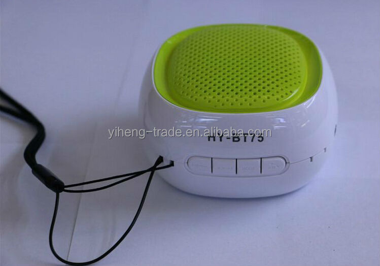 2014 Wholesale Wireless Bluetooth Speaker TF AUX USB FM Radio with Built-in Mic Hands-free Portable Mp3 Mini Subwoofe