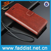 High quality Universal leather cell phone case for iphone 6 with card slots