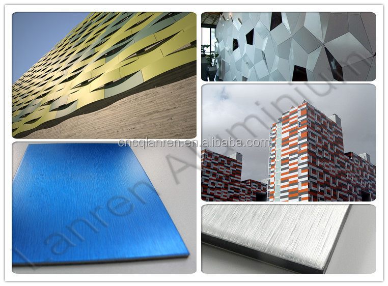exterior size 5mm aluminium composite panel acp sheet ACP/ACM modern building facade materials acm