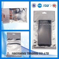 High quality plastic ziplock USB cable packaging bag/phone case packaging bag