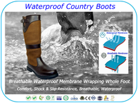 Waterproof Country Boot Sailing Boot Riding Boot Genuine Leather