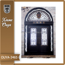 Luxury Wrought Iron Double Entry Doors New Design