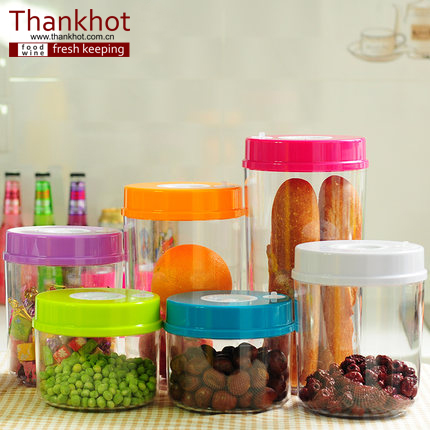 plastic food canister vacuum food container kitchenware