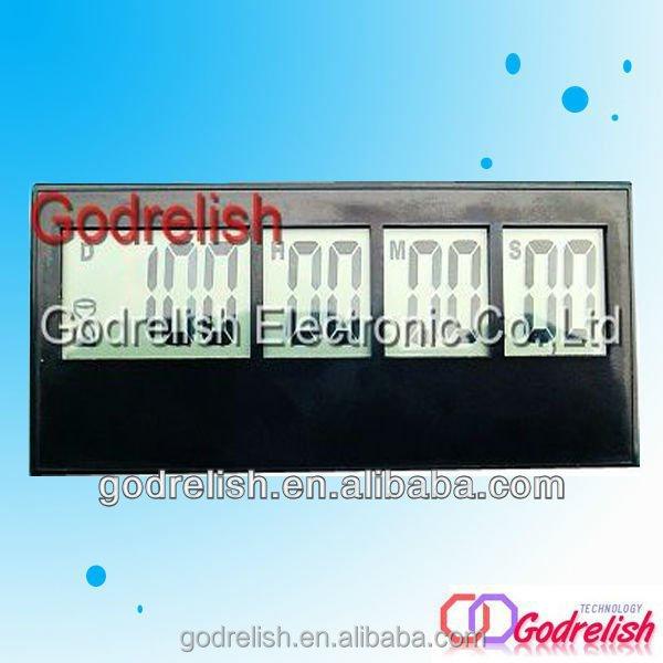 Plastic ruler calculator with digital clock with CE ROHS UL