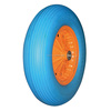 Bule tyre and plastic rim PU rubber wheel