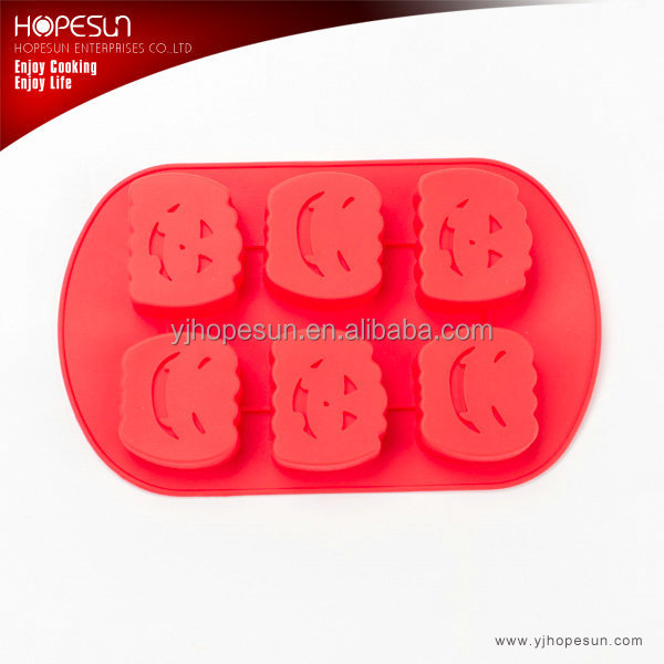 Halloween pumpkin shaped microwave silicone cake mould