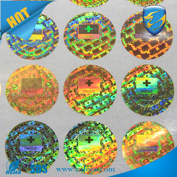 high secure genuine hologram sticker for electronic products