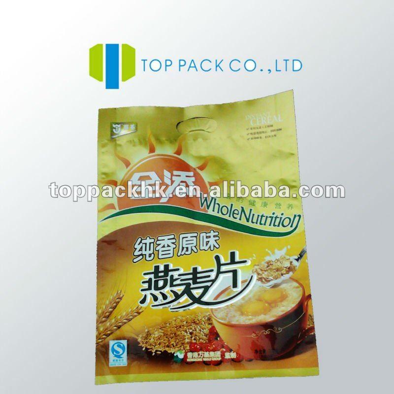 Pvc bags/plastic side- gusset bag with zipper/heat resistant aluminum foil bag