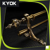 KYOK home decoration project brass curtain pole brackets ,metal curtain pole and accessories, length 6m curtain pole