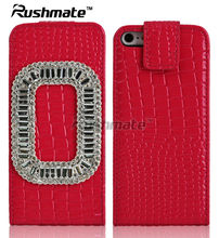For Apple iphone 4G 4S Red PU Leather Phone Case