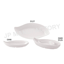 Outdoor Picnic use Unbreakable White Melamine Kidney Plate