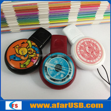 Round mini USB flash drive with customized logo