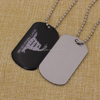 Custom printing epoxy logo aluminum dog tag