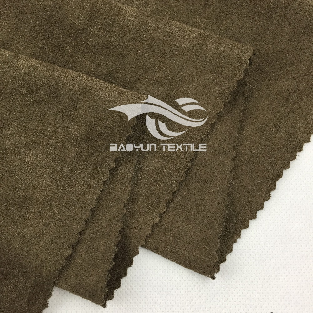 100%polyester double side brushed suede fabric