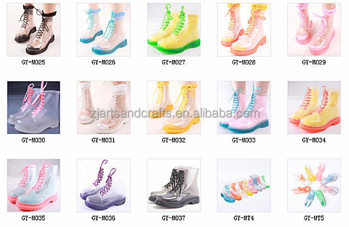 2014 Wholesale lace-up ankle martin boot pvc rain boot fashion lace rain boots