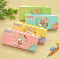 2016 china factory directly sale customized personlized plastic pvc multifunctional stationery pencil box case with sharpener 12