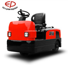 maintenance-free AC drive motor 3T 6Ton Electric Tow Tractor with power steering(EPS) AC motor for airport luggage station