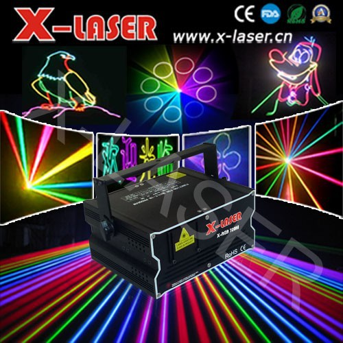 Newest creative laser 3D effect 1000mw full color RGB animation laser lighting/ Outdoor advertising machine