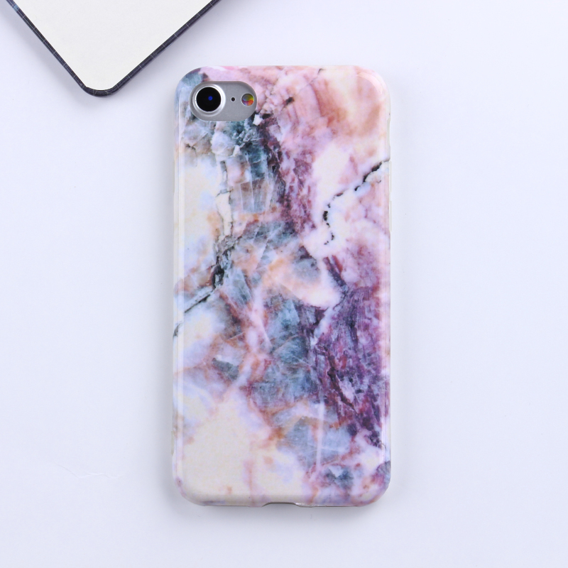 One cent sample marble IMD smart cell mobile case phone <strong>cover</strong> for iPhone 6 / 7