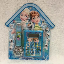 Frozen Elsa watch and mini calculator set child's gift