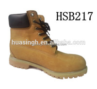 top layer wheat nubuck leather 6 inch waterproof safety work boots for USA market