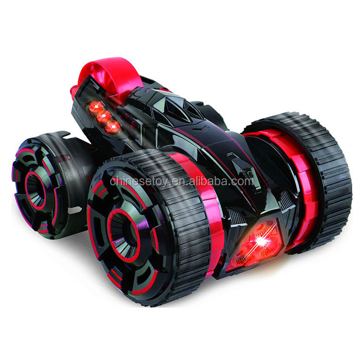 30km/h High Speed Car 6 in 1 LED Light 5 Rounds Stunt Remote Control Double-side Car 6CH R/C Sport Utility Vehicle RC Stunt Car
