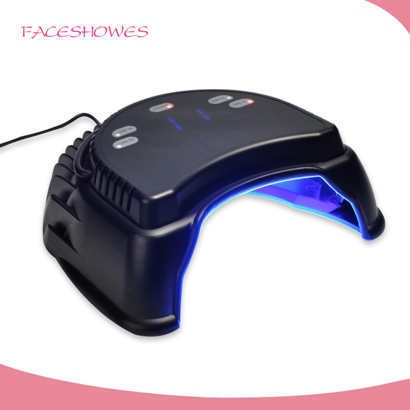 2017 best selling uv gel lamp 30K 60w curing dryer with Black color