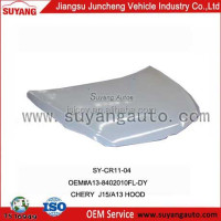 Engine hood car accessories CHERY J15 A13 auto parts factory