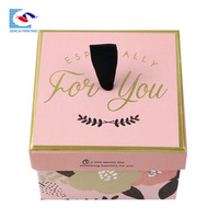 Creative design gift box jewelry beautiful gift boxes with card For Birthday present custom