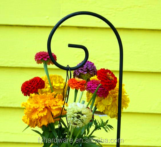 outdoor decoration shepherd hook wedding site stand single shepherd hook hanging flower ball