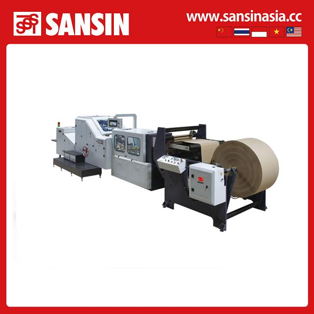2015 hot salepaper bag making machine with flexo printing Square bottom gift paper bag making machine price CE standard