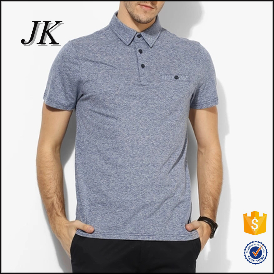 Latest Design Mens Fitted Yarn Dyed Cotton Blend Polyester Polo Shirt