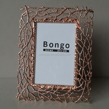 cheap ROSE GOLD metal picture photo frame