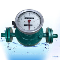 LC diesel fuel/heavy fuel/crude/hydraulic oil oval gear flow meter for oil etc expensive fluid measurement