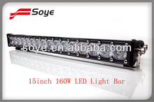 Top Selling!!! 160w 9-36V 14169 lumen single row 15'' cree led light bar