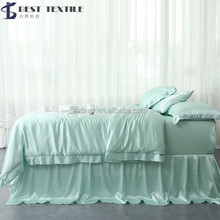Dubai bed sheet set 100% silk bedding set bed room comforter luxury textile