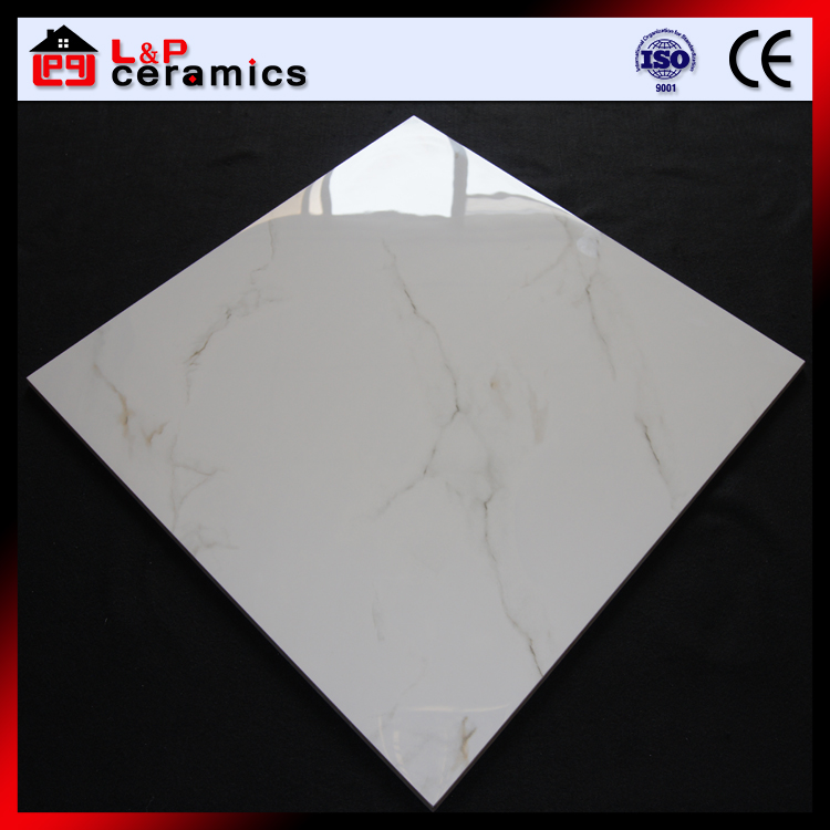 24x24 floor tile polished glazed white porcelain tile