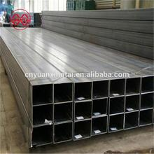 square boxes galvanised steel HSS hollow section construction price list weight of galvanized rectangular pipes raw materials