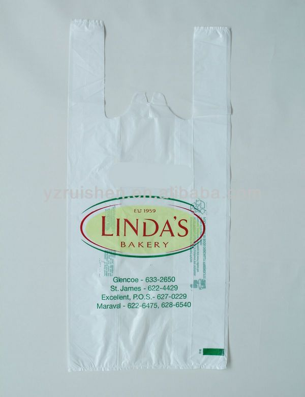 Biodegradable Photo Print T-shirt Packaging Plastic Bags Carry Bags