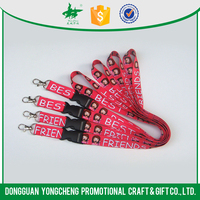 promotional silk-screen printing lanyard no minimum order/ customized lanyard