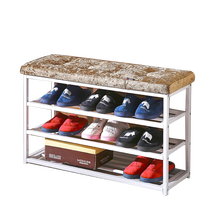 shoe fitting stool 10 pairs 3-tier shoe rack bench