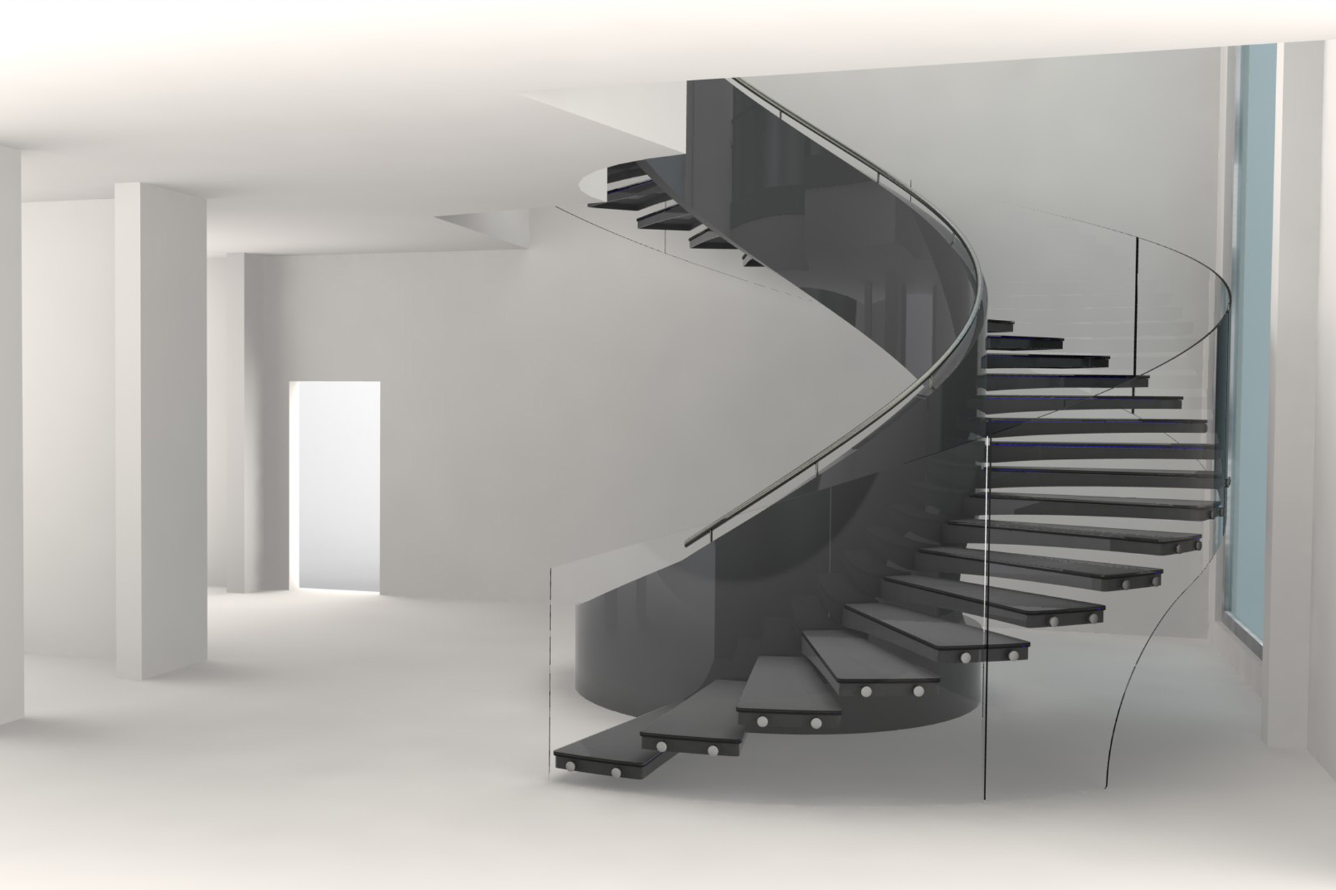Decorative Indoor Curved Stair Treads