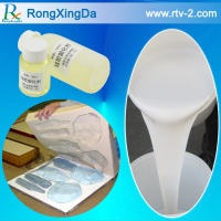 Silicone rubber molding compound for artificial stone