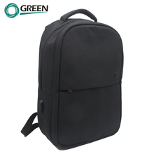 Travelling laptop backpack bag usb part with charger, trolley strap on back