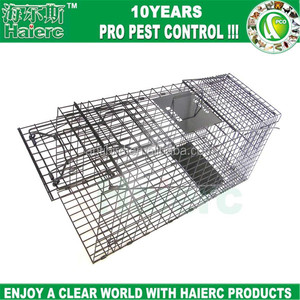 Haierc Live Animal Professional Style One-Door Large Raccoon, Small Dogs, and Fox Cage Trap
