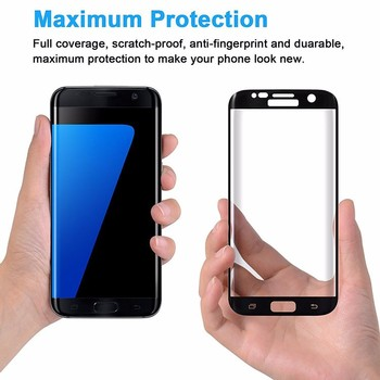 Hot sale Anti-scratch Explosion Proof full tempered glass screen protector for samsung galaxy s6 edge s7 edge