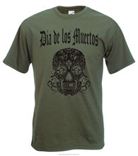 Day Of The Dead Mexican Skull T-Shirt - Goth, Rocker, Punk, Emo, Various Colours