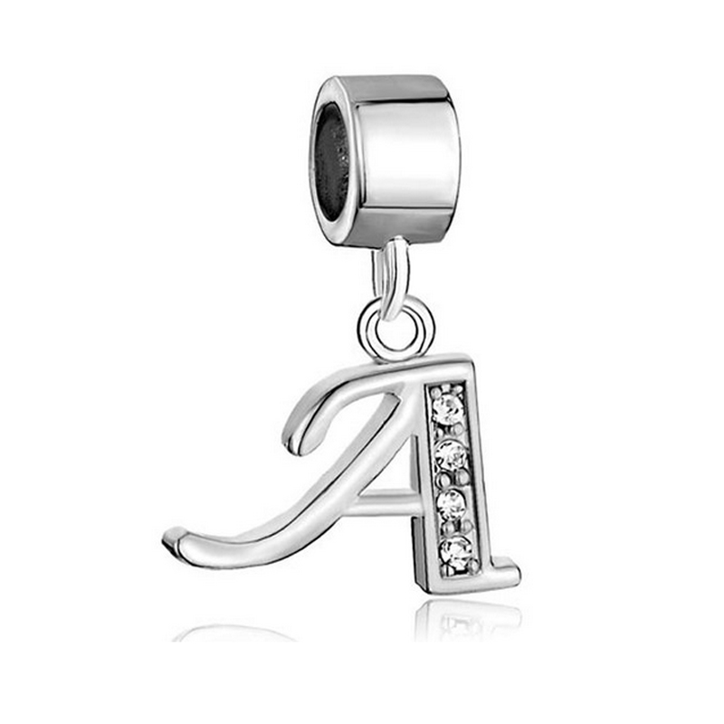 925 silver floating locket charms alphabet charms wholesale charms